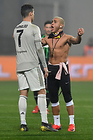 A man invades the pitch and goes to talk to Cristiano Ronaldo <br /> Reggio Emilia 10-2-2019 Stadio Mapei, Football Serie A 2018/2019 Sassuolo - Juventus<br /> Foto Andrea Staccioli / Insidefoto