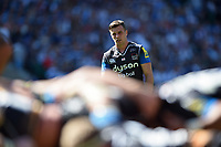 George Ford of Bath Rugby watches a scrum. The Clash, Aviva Premiership match, between Bath Rugby and Leicester Tigers on April 8, 2017 at Twickenham Stadium in London, England. Photo by: Patrick Khachfe / Onside Images