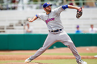 Midland RockHounds pitcher Chris Jensen (33) delivers a pitch to the plate during the Texas League baseball game against the San Antonio Missions on June 28, 2015 at Nelson Wolff Stadium in San Antonio, Texas. The Missions defeated the RockHounds 7-2. (Andrew Woolley/Four Seam Images)