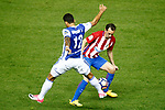 Atletico de Madrid's Diego Godin (r) and Real Sociedad's William Jose during La Liga match. April 4,2017. (ALTERPHOTOS/Acero)