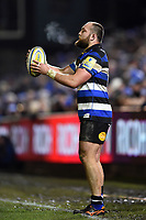 Tom Dunn of Bath Rugby looks to throw into a lineout. Aviva Premiership match, between Bath Rugby and Northampton Saints on February 9, 2018 at the Recreation Ground in Bath, England. Photo by: Patrick Khachfe / Onside Images