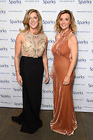 Sally Gunnell and Helen Skelton<br /> at the Sparks Winter Ball 2016, Camden Roundhouse, London.<br /> <br /> <br /> ©Ash Knotek  D3206  30/11/2016