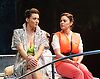Way Up Stream <br /> by Alan Ayckbourn <br /> <br /> at The Festival Theatre Chichester, Great Britain <br /> <br /> 27th April 2015 <br /> <br /> Press photocall <br /> Sarah Parish as June <br /> <br /> <br /> Jill Halfpenny as Emma <br /> <br /> Photograph by Elliott Franks <br /> Image licensed to Elliott Franks Photography Services