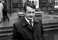 Des O&rsquo;Malley, TD, Fianna Fail, energy spokesman, who was returned to Dail Eireann, Irish Parliament, following November 1982 General Election. Fianna Fail failed to be re-elected as the government party, 198212000282DOM2<br /><br />Copyright Image from Victor Patterson, 54 Dorchester Park, <br />Belfast, UK, BT9 6RJ<br /><br />t1: +44 28 9066 1296 (from Rep of Ireland 048 9066 1296)<br />t2: +44 28 9002 2446 (from Rep of Ireland 048 9002 2446)<br />m: +44 7802 353836<br /><br />victorpatterson@me.com<br />www.victorpatterson.com<br /><br />Please see my Terms and Conditions of Use at VICTORPATTERSON.COM. It is IMPORTANT that you familiarise yourself with them.<br /><br />Images used on the Internet must be visibly watermarked i.e. &copy;VICTORPATTERSON.COM within the body of the image and copyright metadata must not be deleted. Images used on the Internet have a size restriction of 4kbs and are chargeable at the then current NUJ rates.<br /><br />This image is only available for the use of the download recipient i.e. television station, newspaper, magazine, book publisher, etc, and must not be passed on to any third party. It is also downloaded on condition that each and every usage is notified within 7 days to victorpatterson@me.com<br /><br />The right of Victor Patterson to be identified as the author is asserted in accordance with The Copyright Designs And Patents Act (1988).