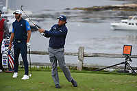 Phil Mickelson (USA) watches his tee shot on 7 during round 2 of the 2019 US Open, Pebble Beach Golf Links, Monterrey, California, USA. 6/14/2019.<br /> Picture: Golffile | Ken Murray<br /> <br /> All photo usage must carry mandatory copyright credit (© Golffile | Ken Murray)