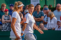 London, England, 5 th. July, 2018, Tennis,  Wimbledon, Women's doubles: Elise Mertens (BEL( and Demi Schuurs (NED) (R)<br /> Photo: Henk Koster/tennisimages.com