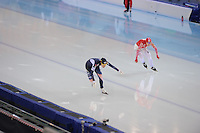 SPEEDSKATING: SOCHI: Adler Arena, 24-03-2013, Essent ISU World Championship Single Distances, Day 4, 500m Ladies, Hyun-Yung Kim (KOR), Yuliya Liteykina (RUS), © Martin de Jong
