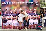 Visitors enjoy the Sevens Village during the HSBC Hong Kong Rugby Sevens 2016 on 07 April 2016 at Hong Kong Stadium in Hong Kong, China. Photo by Kitmin Lee / Power Sport Images