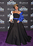 HOLLYWOOD, CA - JANUARY 29: Singer/songwriter Janelle Monae attends the premiere of Disney and Marvel's 'Black Panther' at  the Dolby Theater on January 28, 2018 in Hollywood, California.