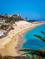 Spanien, Kanarische Inseln, Fuerteventura, Halbinsel Jandia, Strand von Morro Jable | Spain, Canary Island, Fuerteventura, peninsula Jandia, Morro Jable, beach