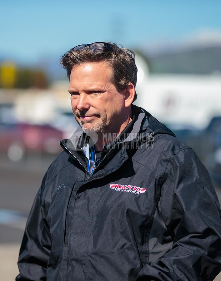 Feb 11, 2019; Pomona, CA, USA; NHRA funny car crew chief Del Worsham during the Winternationals at Auto Club Raceway at Pomona. Mandatory Credit: Mark J. Rebilas-USA TODAY Sports