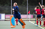 UTRECHT - Laren brengt de stand, even voor tijd , op 2-2,keeper Joyce Sombroek (Laren) komt weer terug in het veld   tijdens de hockey hoofdklasse competitiewedstrijd dames:  Kampong-Laren . COPYRIGHT KOEN SUYK