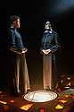 """London, UK. 06.09.2017. """"Doubt - a Parable"""", written by John Patrick Shanley and directed by Che Walker, opens at Southwark Playhouse. Picture shows: Jonathan Chambers (Father Brendan Flynn), Stella Gonet (Sister Aloysius). Photograph © Jane Hobson."""
