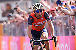 Vincenzo Nibali (ITA) Bahrain-Merida wins Stage 16 of the 100th edition of the Giro d'Italia 2017, running 222km from Rovetta to Bormio, Italy. 23rd May 2017.<br /> Picture: LaPresse/Gian Mattia D'Alberto | Cyclefile<br /> <br /> <br /> All photos usage must carry mandatory copyright credit (&copy; Cyclefile | LaPresse/Gian Mattia D'Alberto)