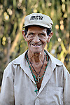 A man in El Bonete, a small village in northwestern Nicaragua.