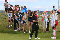 Conor Moore (AM) playing with Guido Migliozzi (ITA) on the 2nd tee during the Pro-Am of the Irish Open at LaHinch Golf Club, LaHinch, Co. Clare on Wednesday 3rd July 2019.<br /> Picture:  Thos Caffrey / Golffile<br /> <br /> All photos usage must carry mandatory copyright credit (© Golffile | Thos Caffrey)
