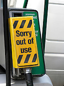 Closed fuel pumps at petrol station