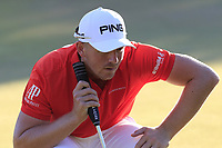 Matt Wallace (ENG) on the 18th green during Thursday's Round 1 of the 2018 Turkish Airlines Open hosted by Regnum Carya Golf &amp; Spa Resort, Antalya, Turkey. 1st November 2018.<br /> Picture: Eoin Clarke | Golffile<br /> <br /> <br /> All photos usage must carry mandatory copyright credit (&copy; Golffile | Eoin Clarke)