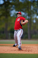 Washington Nationals Taylor Hill (31) during a minor league Spring Training game against the Detroit Tigers on March 21, 2016 at Tigertown in Lakeland, Florida.  (Mike Janes/Four Seam Images)