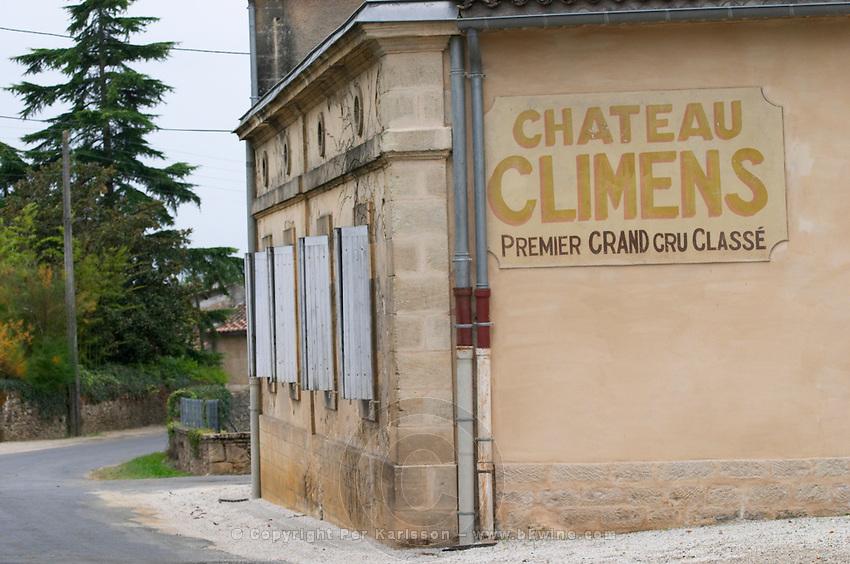 Chateau Climens. Sauternes, Bordeaux, France