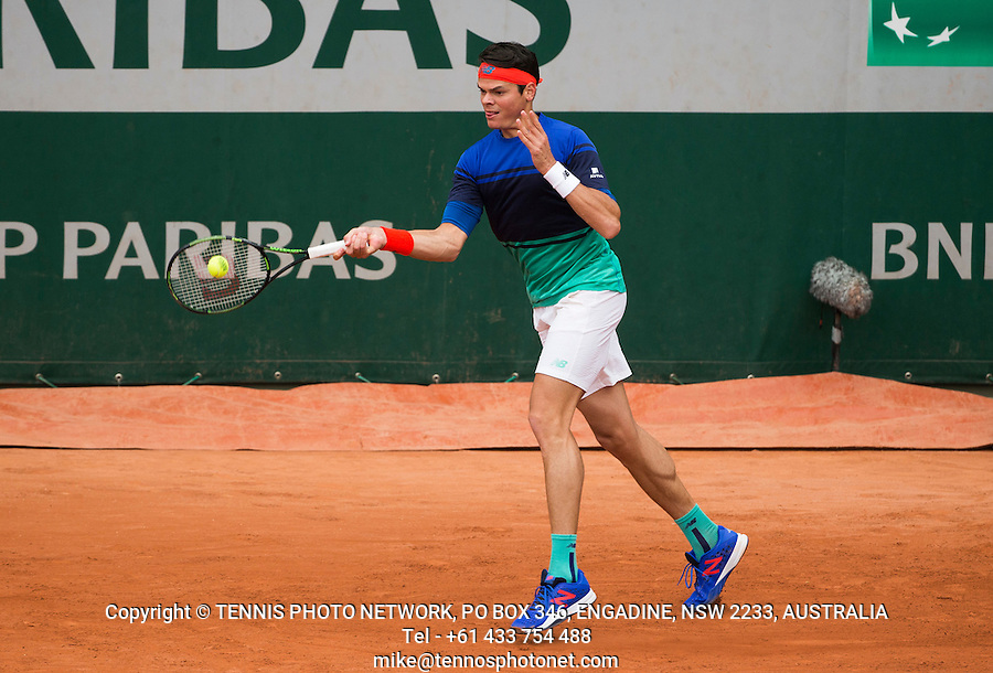 MILOS RAONIC (CAN)<br /> <br /> TENNIS - FRENCH OPEN - ROLAND GARROS - ATP - WTA - ITF - GRAND SLAM - CHAMPIONSHIPS - PARIS - FRANCE - 2016  <br /> <br /> <br /> &copy; TENNIS PHOTO NETWORK