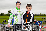 Melanie Walsh and Sean Walsh at the St Kieran's GAA Cycle Tour on Sunday starting in the  Desmonds GAA Grounds