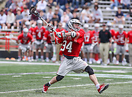 College Park, MD - April 22, 2018: Ohio State Buckeyes Ryan Terefenko (34) takes a shot during game between Ohio St. and Maryland at  Capital One Field at Maryland Stadium in College Park, MD.  (Photo by Elliott Brown/Media Images International)