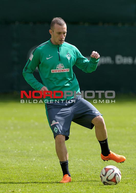 13.05.2015, Trainingsgelaende, Bremen, GER, 1.FBL, Training Werder Bremen, im Bild Luca Caldirola (Bremen #3)<br /> <br /> Foto &copy; nordphoto / Frisch