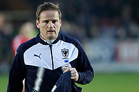 AFC Wimbledon manager, Neal Ardley during the Sky Bet League 1 match between AFC Wimbledon and Charlton Athletic at the Cherry Red Records Stadium, Kingston, England on 10 April 2018. Photo by Carlton Myrie / PRiME Media Images.