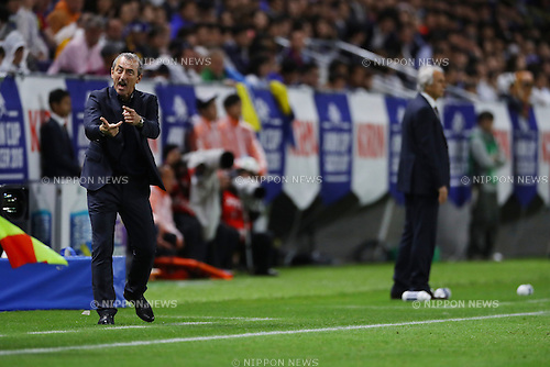 Mehmed Bazdarevic (BIH),   Vahid Halilhodzic (JPN),<br /> JUNE 7, 2016 - Football / Soccer :<br /> Bosnia and Herzegovina's head coach Mehmed Bazdarevic reacts during the Kirin Cup Soccer 2016 Final match between Japan 1-2 Bosnia and Herzegovina at Suita City Football Stadium in Osaka, Japan. (Photo by Kenzaburo Matsuoka/AFLO)