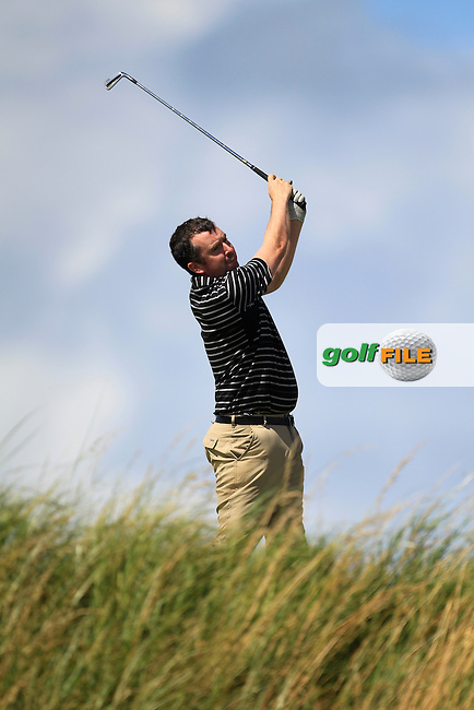 Mark Mullen (Wexford) on the 16th tee during the South of Ireland Amateur Open Championship Third Round at Lahinch Golf Club  29th July 2013 <br /> Picture:  Thos Caffrey / www.golffile.ie