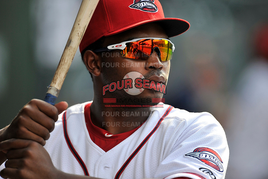 Kyri Washington (21) of the Greenville Drive is pictured during a game against the Lakewood BlueClaws on Sunday, June 26, 2016, at Fluor Field at the West End in Greenville, South Carolina. Greenville won, 2-1. (Tom Priddy/Four Seam Images)