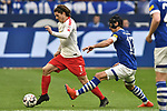 16.03.2019, VELTINS-Arena, Gelsenkirchen, GER, DFL, 1. BL, FC Schalke 04 vs RB Leipzig, DFL regulations prohibit any use of photographs as image sequences and/or quasi-video<br /> <br /> im Bild v. li. im Zweikampf Marcel Sabitzer (#7, RB Leipzig) Benjamin Stambouli (#17, FC Schalke 04) <br /> <br /> Foto © nph/Mauelshagen