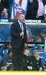 Allyt McCoist rallies his men for a second half onslaught