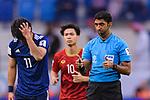 FIFA Referee Mohammed Abdulla Hassan of UEA (R) gestures during the AFC Asian Cup UAE 2019 Quarter Finals match between Vietnam (VIE) and Japan (JPN) at Al Maktoum Stadium on 24 January 2018 in Dubai, United Arab Emirates. Photo by Marcio Rodrigo Machado / Power Sport Images