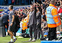 Leeds United manager Marcelo Bielsa gestures after his side conceded a goal<br /> <br /> Photographer Alex Dodd/CameraSport<br /> <br /> The EFL Sky Bet Championship - Leeds United v Nottingham Forest - Saturday 10th August 2019 - Elland Road - Leeds<br /> <br /> World Copyright © 2019 CameraSport. All rights reserved. 43 Linden Ave. Countesthorpe. Leicester. England. LE8 5PG - Tel: +44 (0) 116 277 4147 - admin@camerasport.com - www.camerasport.com