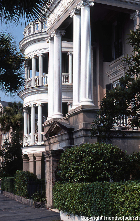 Charleston:  House along Battery.  Photo '78.