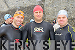 John Kelly, David Sowerby and Dean Wilson taking part in the Killarney Lions club triathlon at Ross Castle on Saturday ..