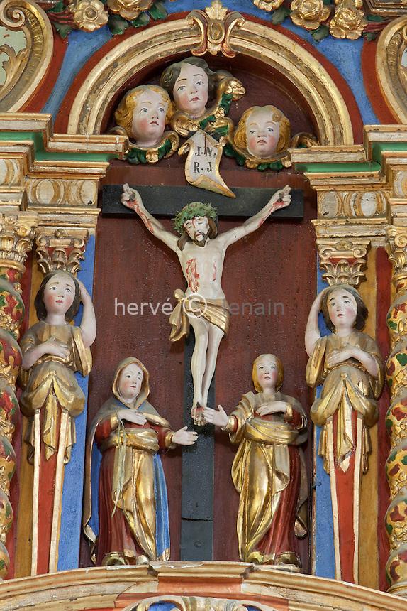 France, Savoie (73), Peisey-Nancroix, chapelle des Vernettes // France, Savoie, Peisey Nancroix, chapel of Vernettes, baroque inside