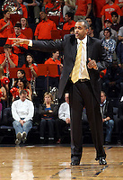 Georgia Tech head coach Paul Hewitt reacts to a call during an ACC college basketball game gainst Virginia Wednesday Jan. 13, 2010 in Charlottesville, Va.  ( Photo/Andrew Shurtleff)