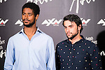 """British actor Alfred Enoch and American actor Jack Falahee during the presentation of the serie """"Como Defender a Un Asesino"""" in Madrid. June 21, 2016. (ALTERPHOTOS/BorjaB.Hojas)"""