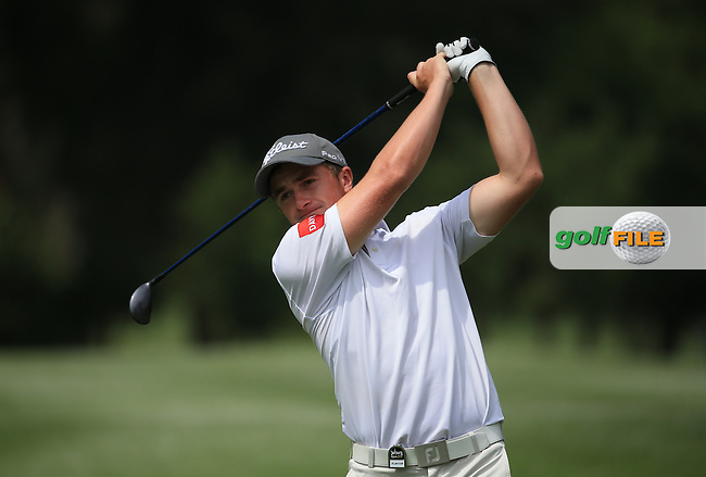 Paul Dunne (IRL) in action on the West Course during Round 2 of the 2016 Joburg Open Celebrating 10 years, played at the Royal Johannesburg and Kensington Golf Club, Gauteng, Johannesburg, South Africa.  15/01/2016. Picture: Golffile | David Lloyd<br /> <br /> All photos usage must carry mandatory copyright credit (&copy; Golffile | David Lloyd)