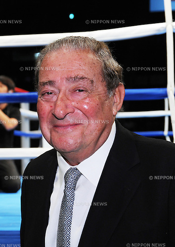 Bob Arum,<br /> AUGUST 25, 2013 - Boxing :<br /> Top Rank founder and CEO Bob Arum attends the boxing event at Ariake Colosseum in Tokyo, Japan. (Photo by Mikio Nakai/AFLO)