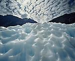 Ice patterns on Fox Glacier. Westland National Park. New Zealand.