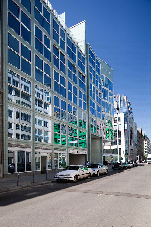 Modern building on Charlottenstrasse, Berlin, Germany