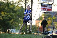 FIERLJEPPEN: IT HEIDENSKIP: 30-05-2015, Junior Sytse Bokma wint met de beste afstand van de dag 19.62m, ©foto Martin de Jong