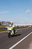 Traffic police officer on patrol, Sussex