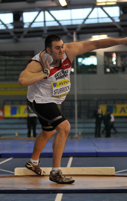 Photo: Tony Oudot/Richard Lane Photography. Aviva World Trials & UK Championships. 14/02/2010. .Mens Shot Put, .Craig Sturrock.
