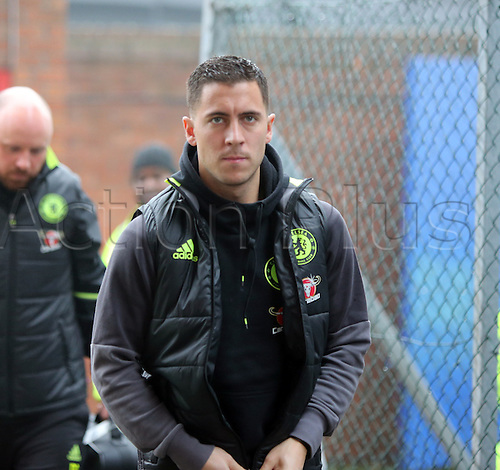 17.12.2016. Selhurst Park, London, England. Premier League Football. Crystal Palace versus Chelsea. Eden Hazard  arriving at Selhurst Park for the game.