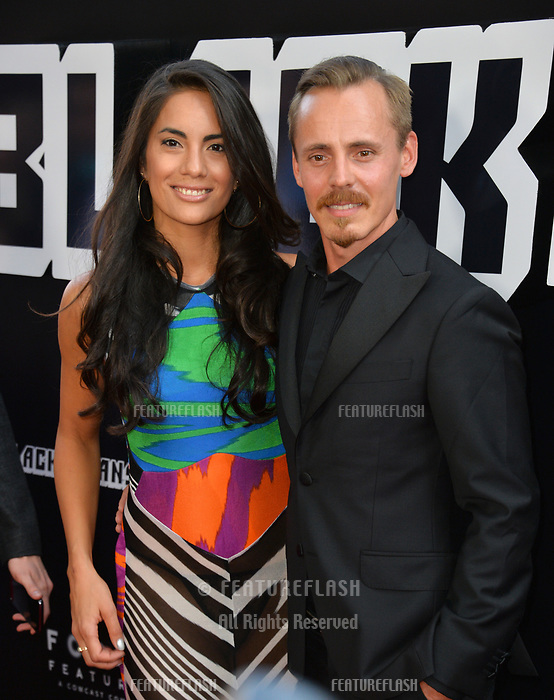 Jasper Paakkonen &amp; Alexandra Escat at the Los Angeles premiere of &quot;BlacKkKlansman&quot; at the Academy's Samuel Goldwyn Theatre, Beverly Hills, USA 08 Aug. 2018<br /> Picture: Paul Smith/Featureflash/SilverHub 0208 004 5359 sales@silverhubmedia.com